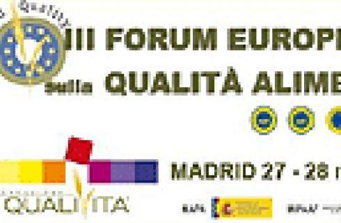 Terza edizione del Forum Europeo sulla Qualità Alimentare