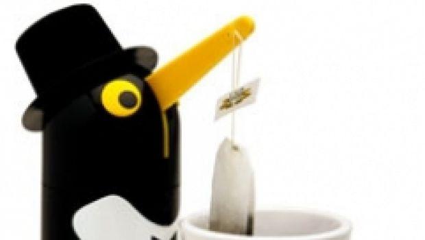 Penguin Teaboy : il pinguino controlla infusione