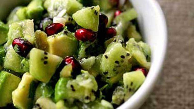 Salsa di kiwi, melagrana e avocado
