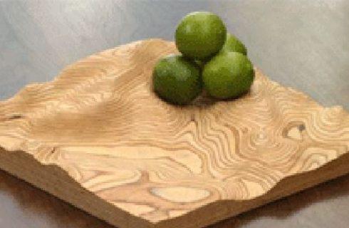 Con Fluid Heart scolpite la vostra area geografica su piatti di legno