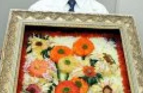 Capolavori di Sushi Art: I Girasoli di Van Gogh
