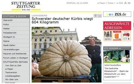 Pesa 600 chili la zucca più grande della Germania