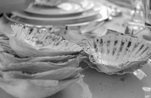 Antipasto per la cena della Vigilia: conchiglie di trota salmonata