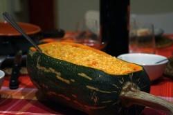Ricetta primo piatto: Risotto di zucca, uvetta e gorgonzola