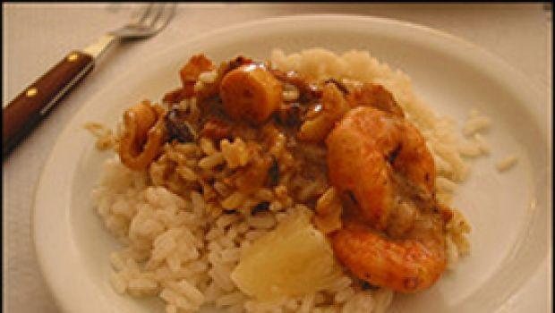 Ricette primi: riso con ananas e gamberi