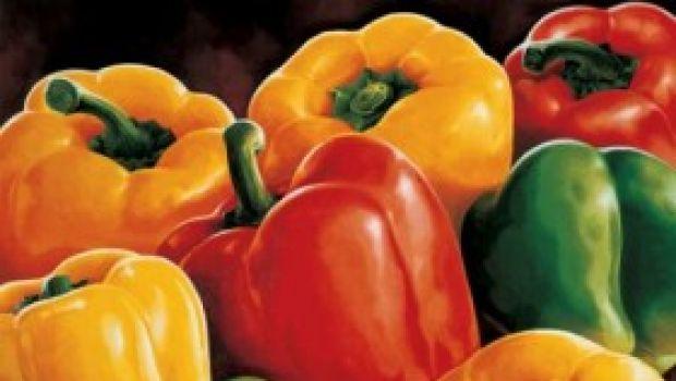 Ricette verdure: teglia di peperoni con pomodori e capperi