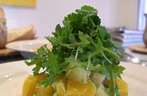 Ricetta facile: branzino con insalata di avocado