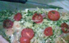 Ricette facili: Torta salata di zucchine e pomodorini.
