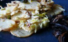 Ricetta facile piatto: pesce con patate e funghi