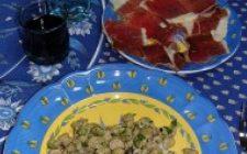 Ricette semplici: fave e pancetta