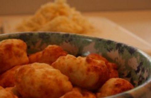 Frittelle di granchio ai cipollotti