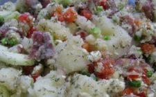 Ricetta facile contorno: insalata mista di patate
