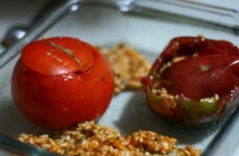 Cucina russa: i pomodori ripieni di insalata di carne
