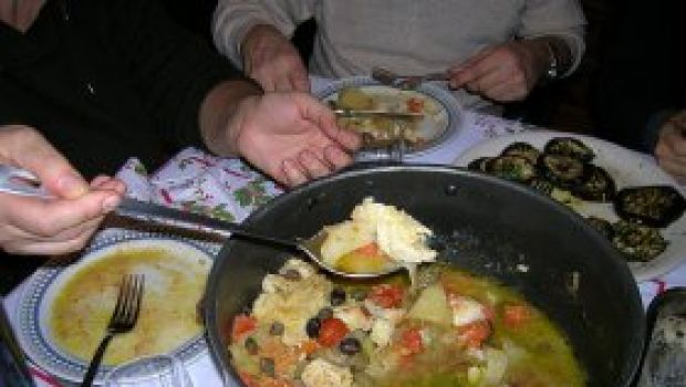 Ricette pesce: baccalà con patate e peperoni