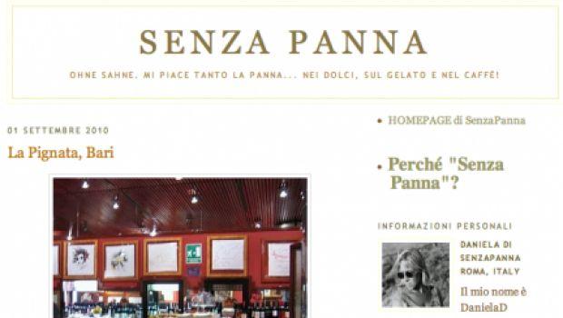 Rubrica Food&Wine Blogs : Senza Panna