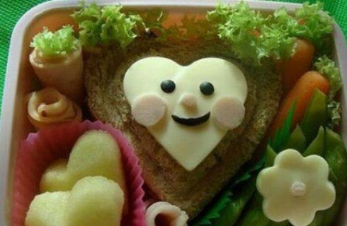 Come sistemare il cibo in forma simpatica