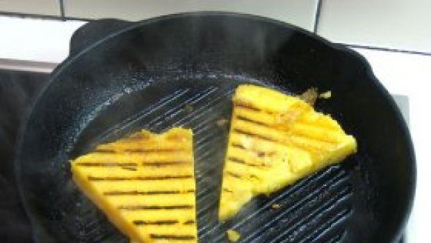 Ricette facili: antipasto di polenta e radicchio