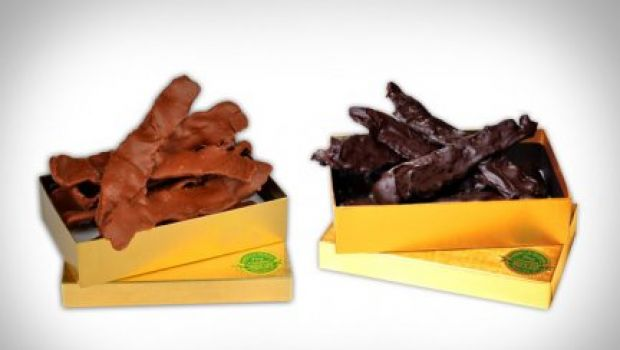 La pancetta ora è ricoperta al cioccolato