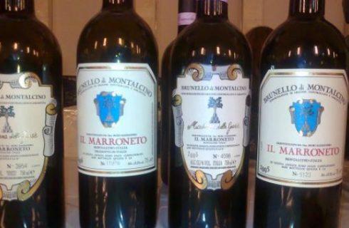 Vino: Brunello di Montalcino il Marroneto.