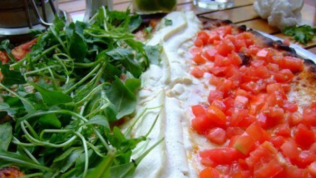 La bandiera italiana a tavola