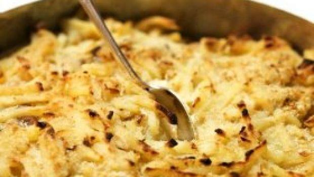 Ricette contorni: gratin di patate, finocchi e acciughe