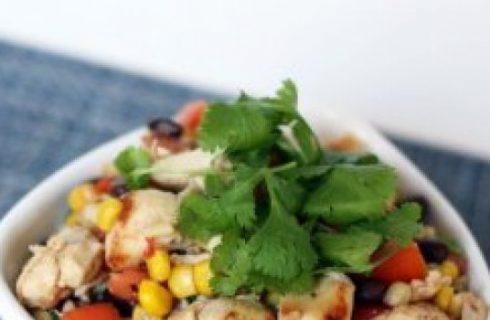 L'insalata di pollo alla messicana