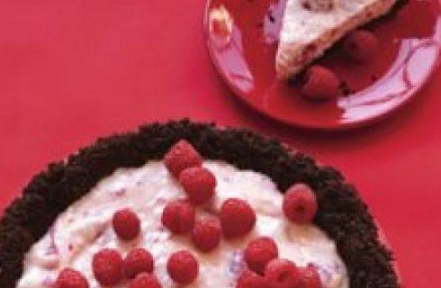 Dolci senza forno: la crostata al cioccolato e lamponi