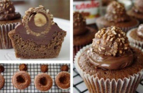 I muffins con la Nutella e i Rocher