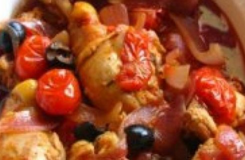 Ricette con i pomodori: il pollo al forno