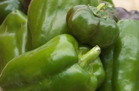 Ricetta degli spiedini di peperoni con zucca e formaggio
