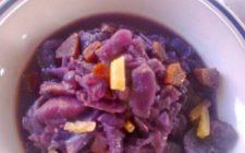 Primi vegetariani: Cavolo rosso e patate.