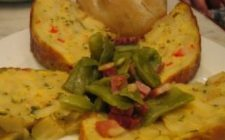 Tramezzini di frittata con patate e peperoni