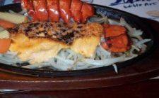 Menu Vigilia: per secondo, filetto di pesce gratinato in salsa d'aragosta