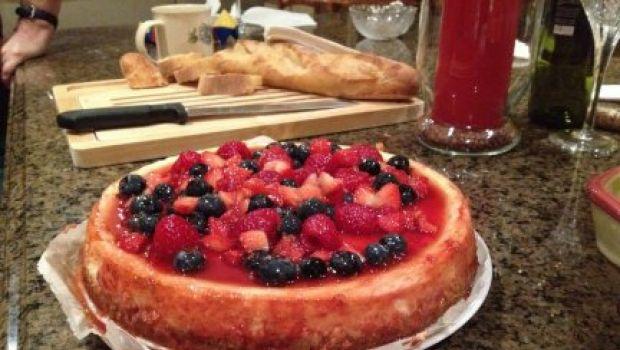 Cheesecake di robiola e frutti rossi