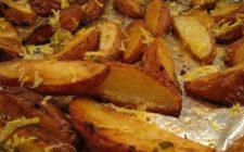 Ricette contorni: patate all'aglio e limone