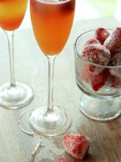 L'aperitivo per San Valentino: champagne cocktail
