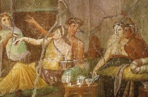 Un'antica cena romana all'ombra del Vesuvio