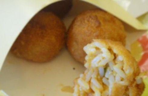 Street food: gli arancini con la salsiccia