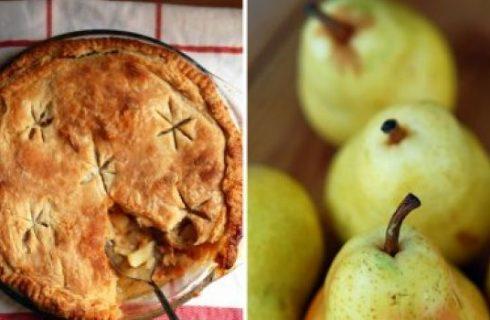 La torta della domenica: pie con pere, brandy e pepe