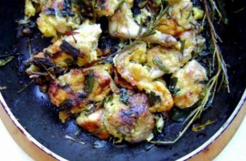 Ricetta della nonna: coniglio fritto con cipollotti e rosmarino