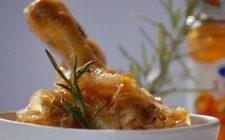 Ricetta secondo di pollo, sovracosce con aglio tritato