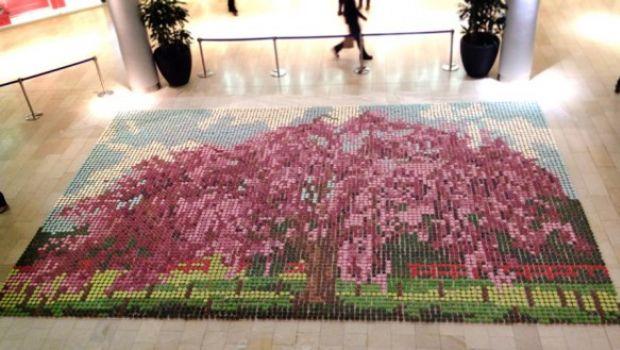 Un mosaico fatto con 10.000 cupcakes