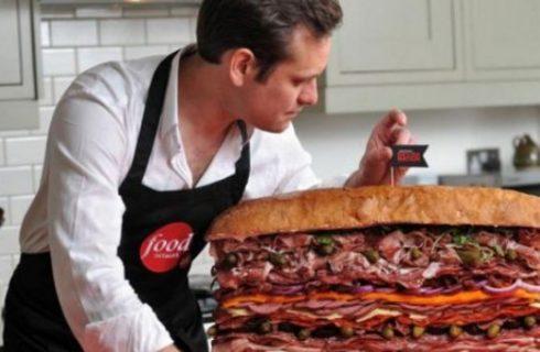 Sandwich record con 35 diverse carni