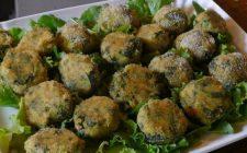 Polpette di verdure: con radicchio, pecorino e olive taggiasche