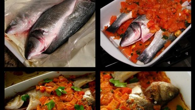 Voglia di pesce, il branzino peperoni e pinoli