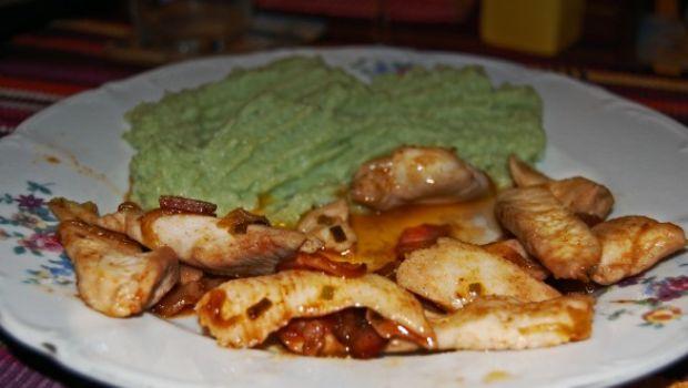 Ricette secondi: pollo alla texana con purea di broccoli
