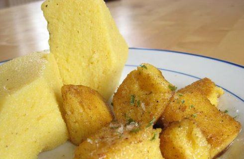 La ricetta della polenta fritta con pancetta