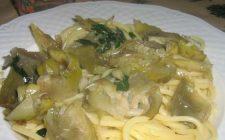 La pasta con i carciofi facile e veloce