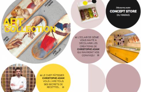 Christophe Adam e gli eclairs nel concept store di Parigi