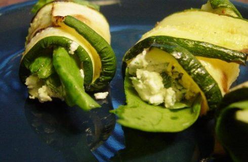Involtini di zucchine e robiola,  ecco la ricetta per il buffet estivo